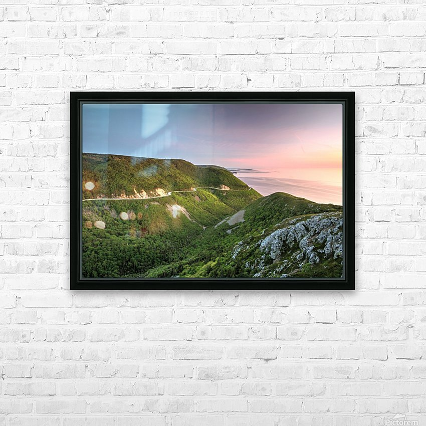Skyline Sunset HD Sublimation Metal print with Decorating Float Frame (BOX)
