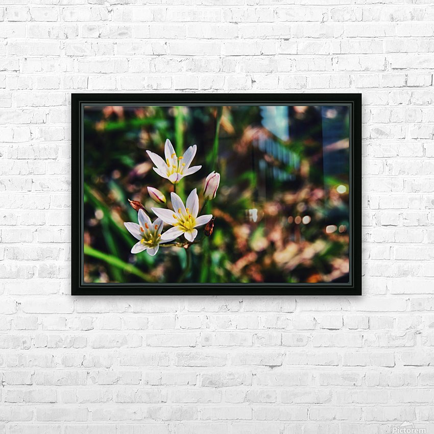 Flowers 2 HD Sublimation Metal print with Decorating Float Frame (BOX)