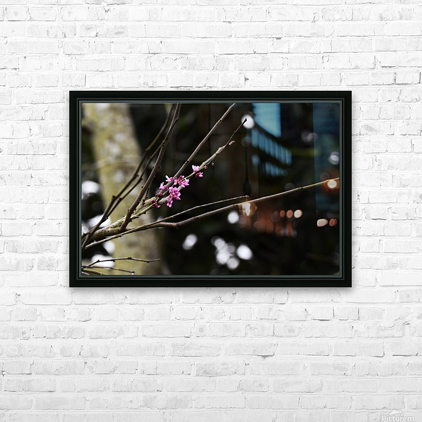 Pink Blossoms HD Sublimation Metal print with Decorating Float Frame (BOX)