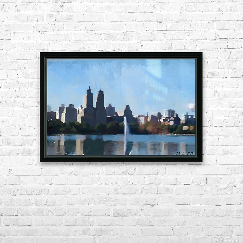 NY_CENTRAL PARK_View 070 HD Sublimation Metal print with Decorating Float Frame (BOX)