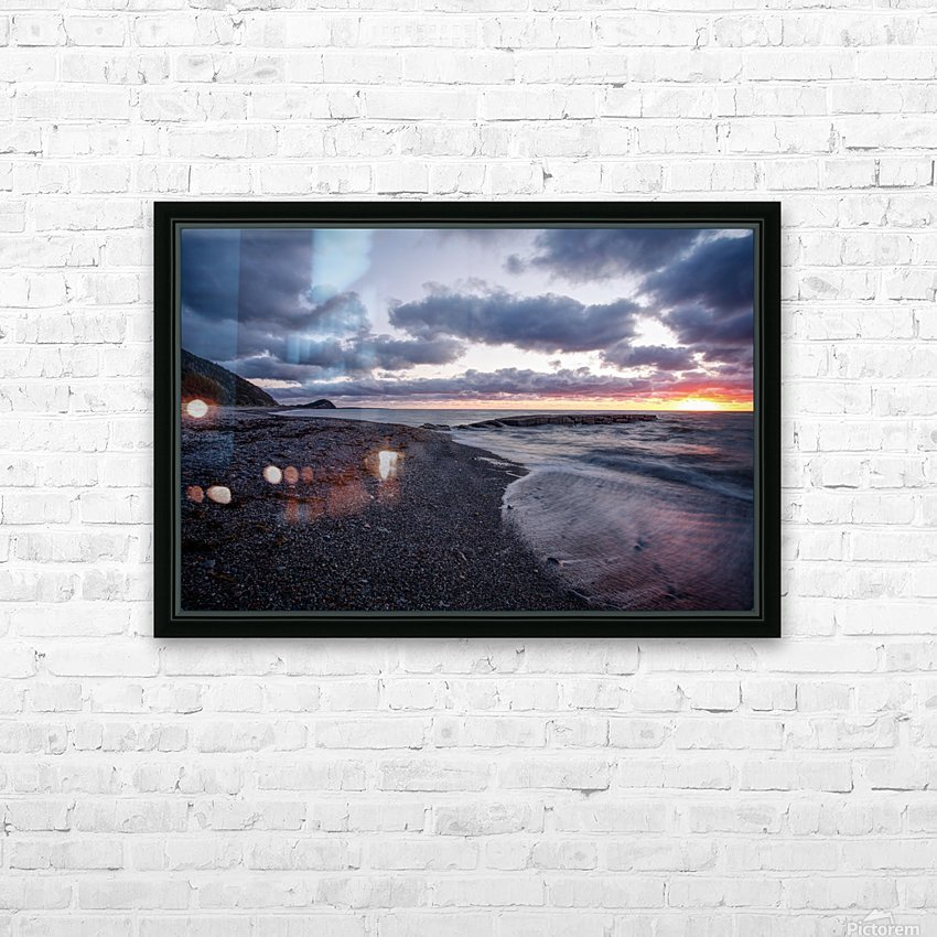 Washed by the sea HD Sublimation Metal print with Decorating Float Frame (BOX)