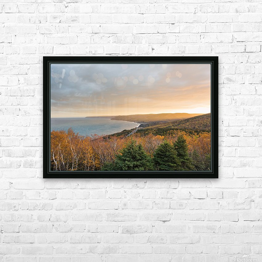 Rising Light HD Sublimation Metal print with Decorating Float Frame (BOX)