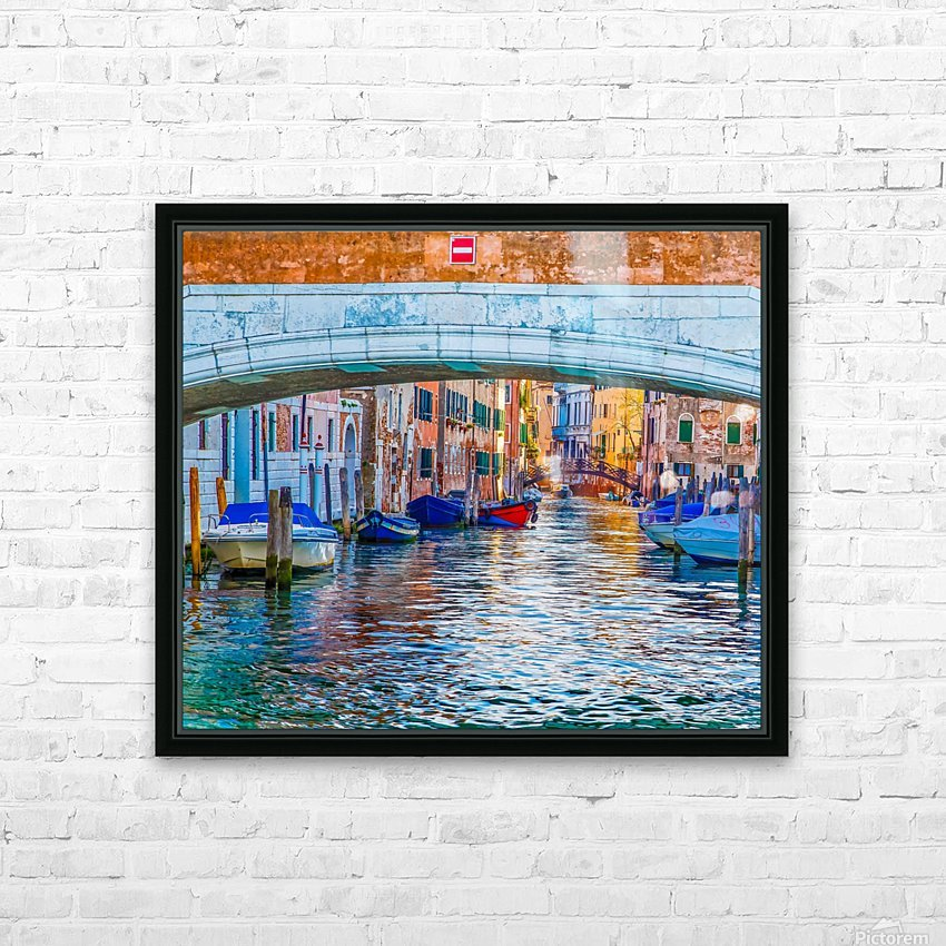 Afternoon Light in Venice Canal HD Sublimation Metal print with Decorating Float Frame (BOX)