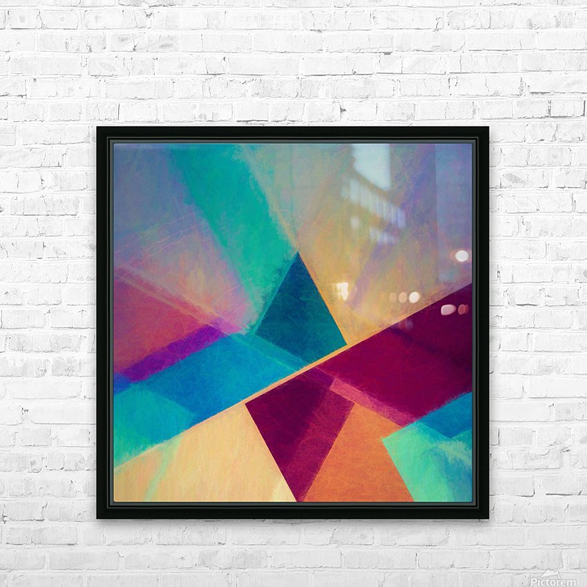 Obliquities HD Sublimation Metal print with Decorating Float Frame (BOX)
