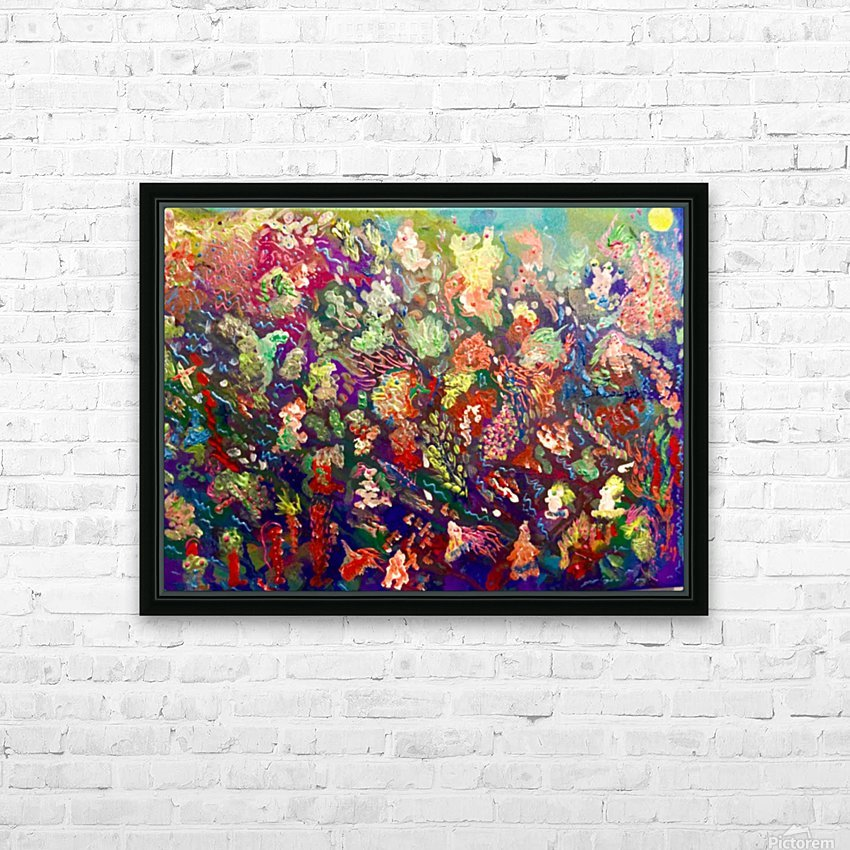 CORAL FANTASY HD Sublimation Metal print with Decorating Float Frame (BOX)