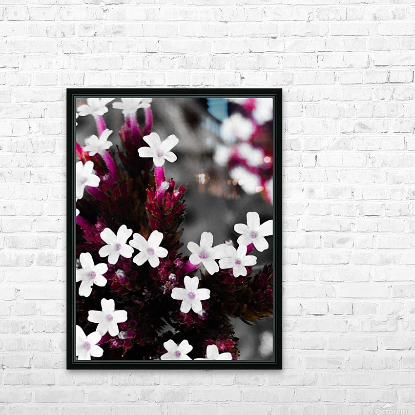 White bloom HD sublimation métal imprimé avec décoration flotteur cadre (boîte)