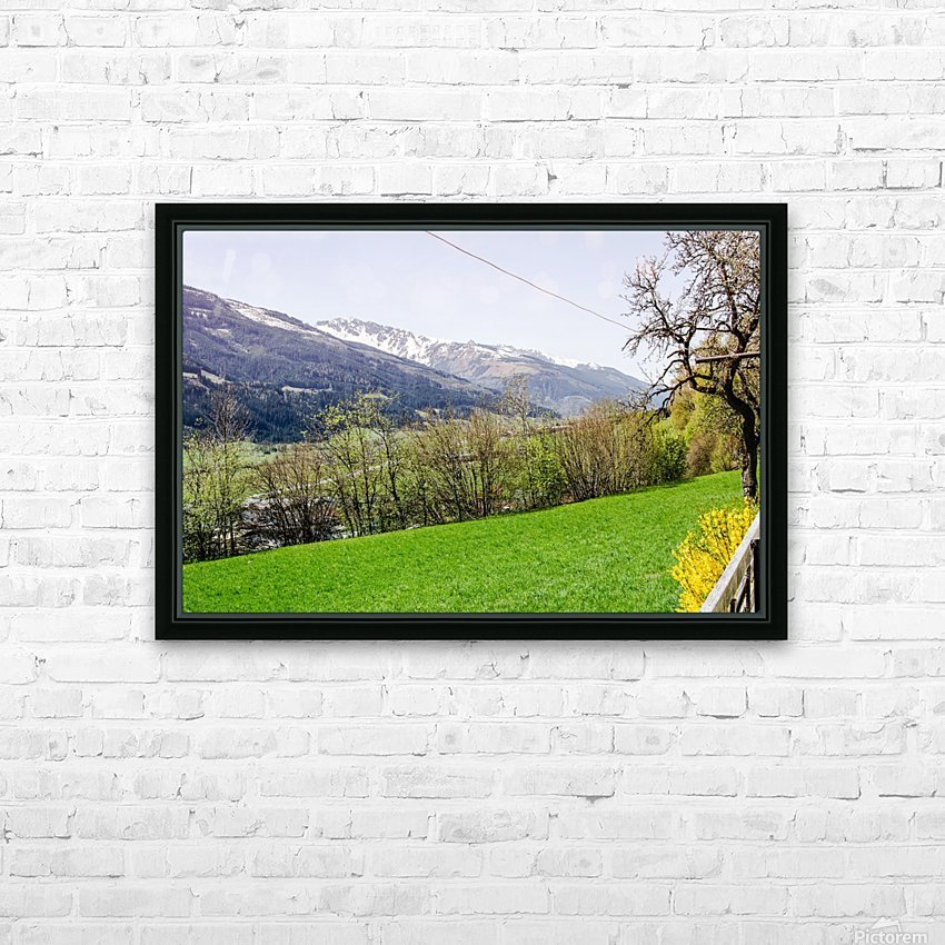 Niedernsill Landscape Austrian Alps HD Sublimation Metal print with Decorating Float Frame (BOX)