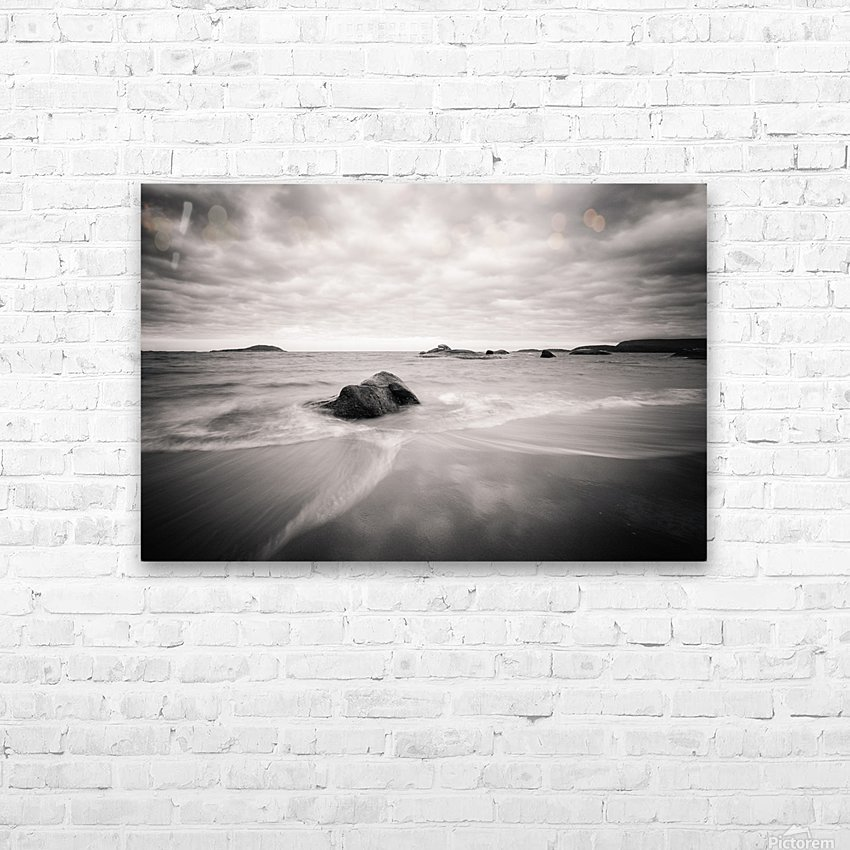 Peaceful Shore HD Sublimation Metal print with Decorating Float Frame (BOX)