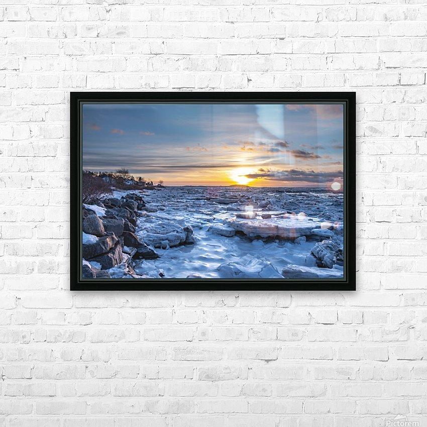 Winter contrast HD sublimation métal imprimé avec décoration flotteur cadre (boîte)