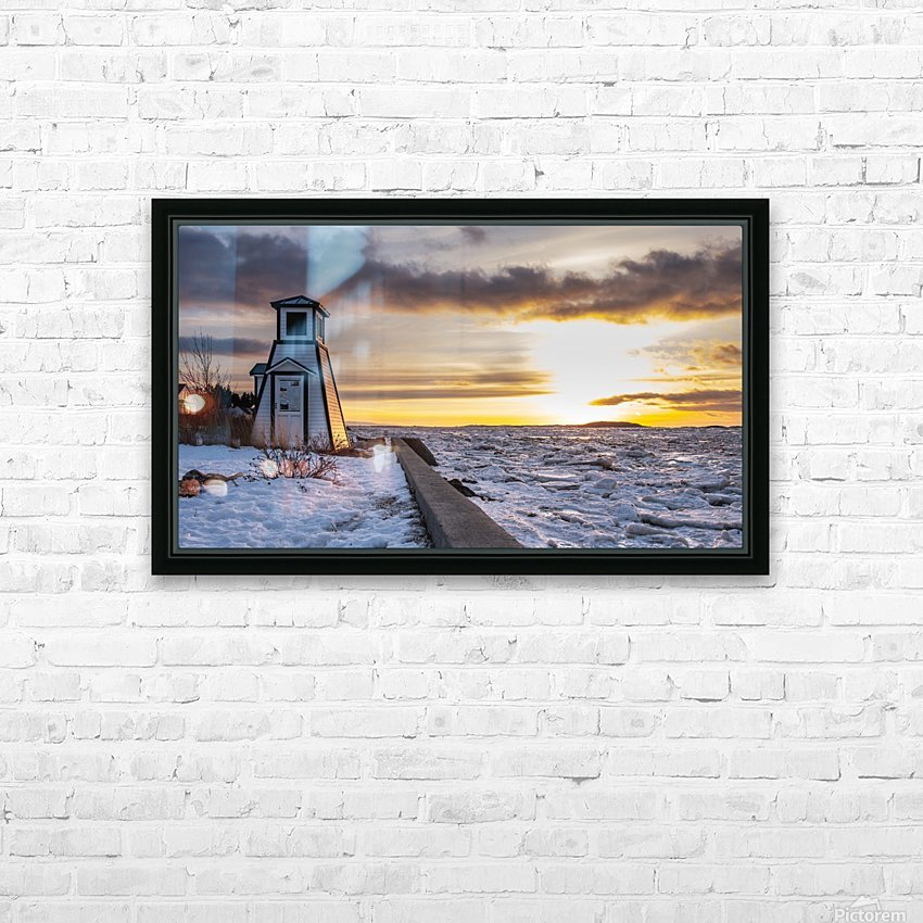 A winter evening HD Sublimation Metal print with Decorating Float Frame (BOX)