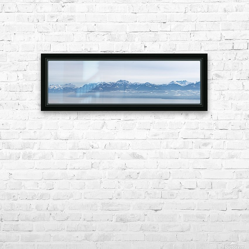 Lake Geneva and Alps HD Sublimation Metal print with Decorating Float Frame (BOX)