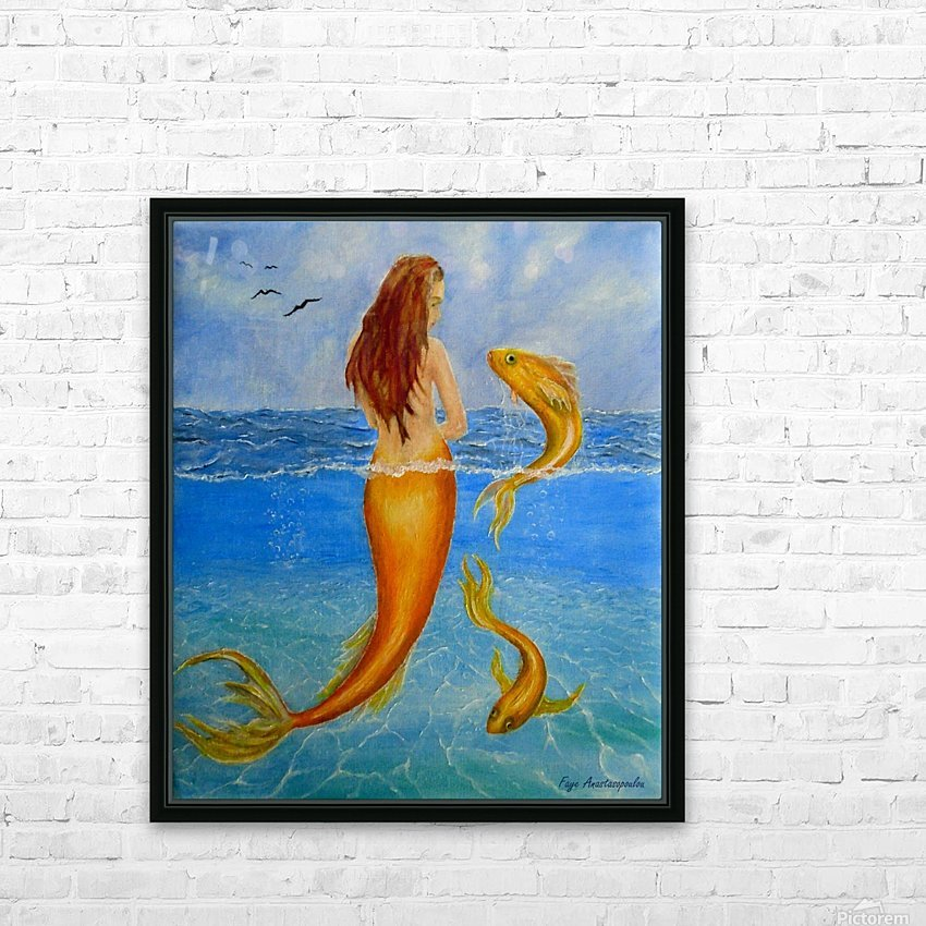 The Sea Nymph HD Sublimation Metal print with Decorating Float Frame (BOX)