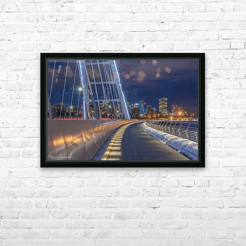 Walterdale_Bridge_NIK9898 HD Sublimation Metal print with Decorating Float Frame (BOX)