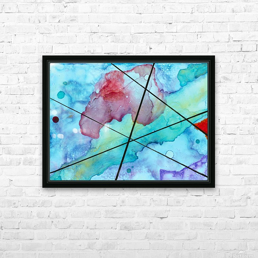 Blue under Lines  HD Sublimation Metal print with Decorating Float Frame (BOX)