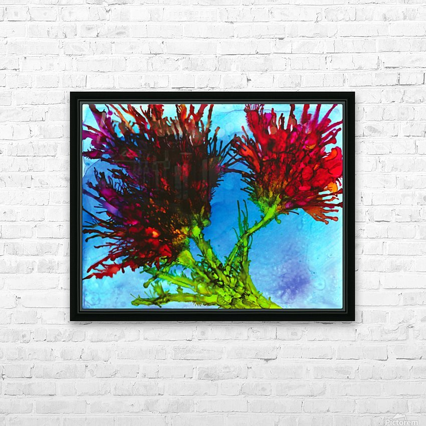 Wicked Flower  HD Sublimation Metal print with Decorating Float Frame (BOX)