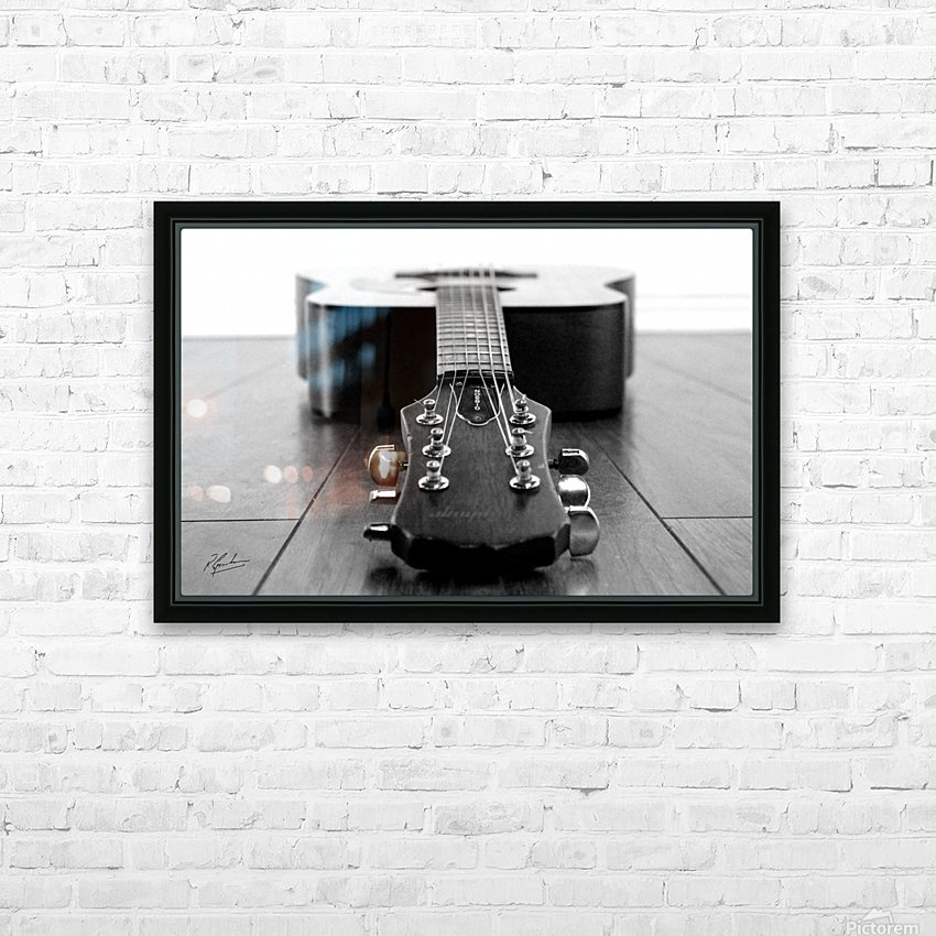 Gibson Guitar HD Sublimation Metal print with Decorating Float Frame (BOX)