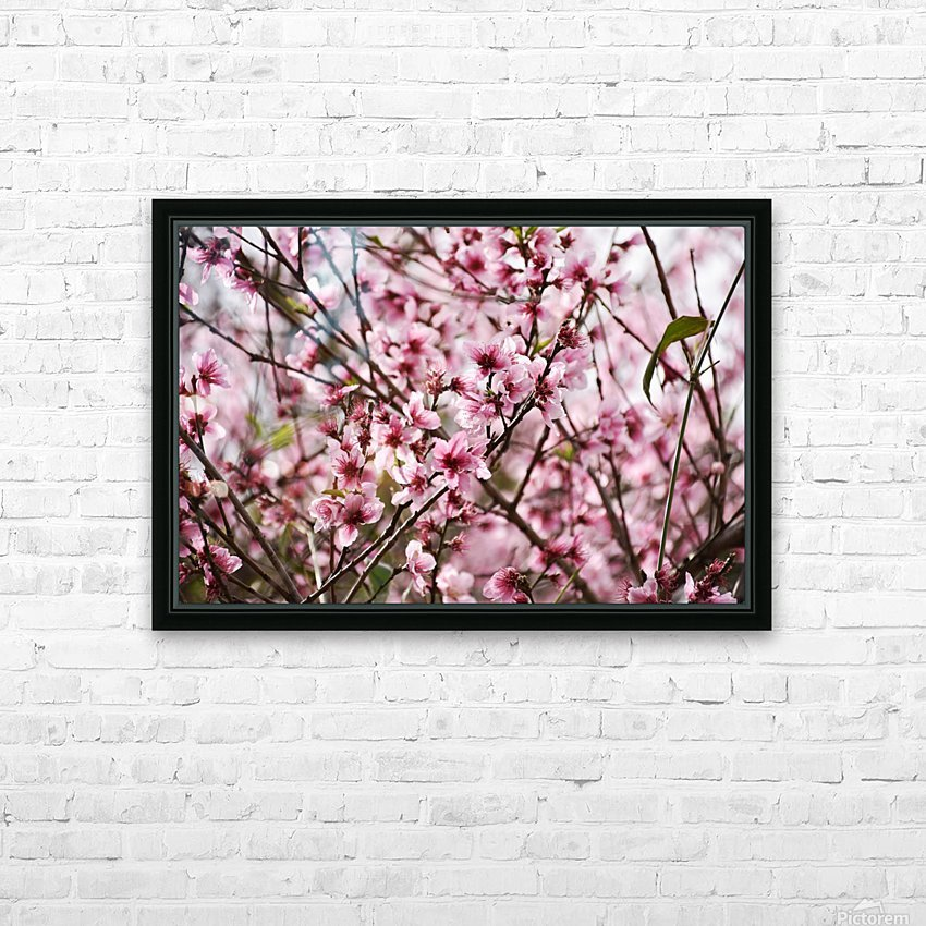 Pink Flowers HD Sublimation Metal print with Decorating Float Frame (BOX)