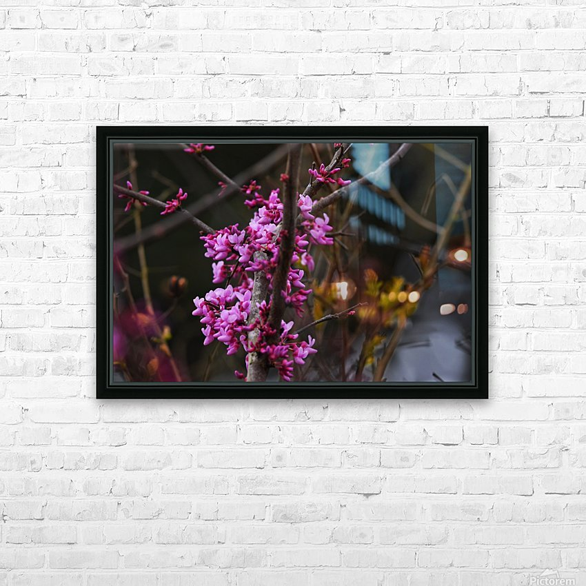 Pink Trees HD Sublimation Metal print with Decorating Float Frame (BOX)