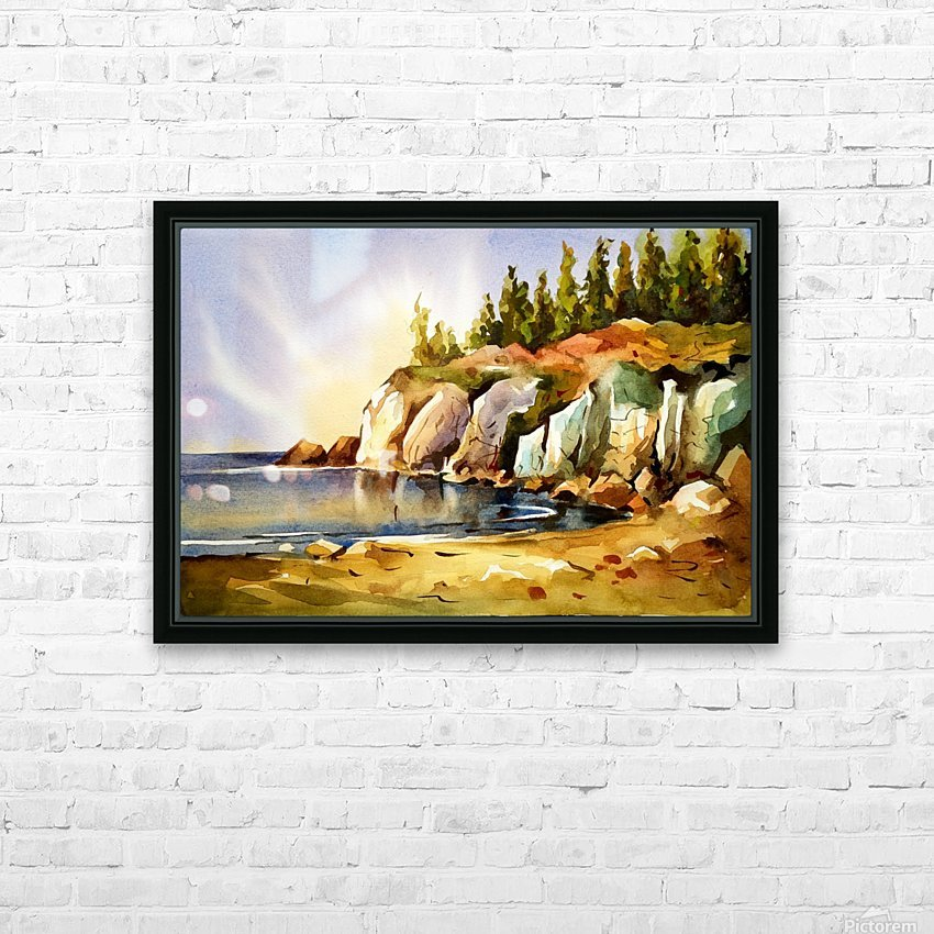 Cliff 1 HD Sublimation Metal print with Decorating Float Frame (BOX)