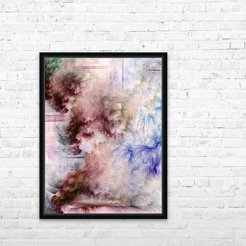 CONNEG HFAA Fractal Art HD Sublimation Metal print with Decorating Float Frame (BOX)
