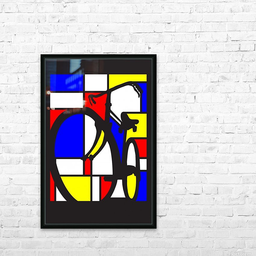 mondrian bike_1553400212.88 HD Sublimation Metal print with Decorating Float Frame (BOX)