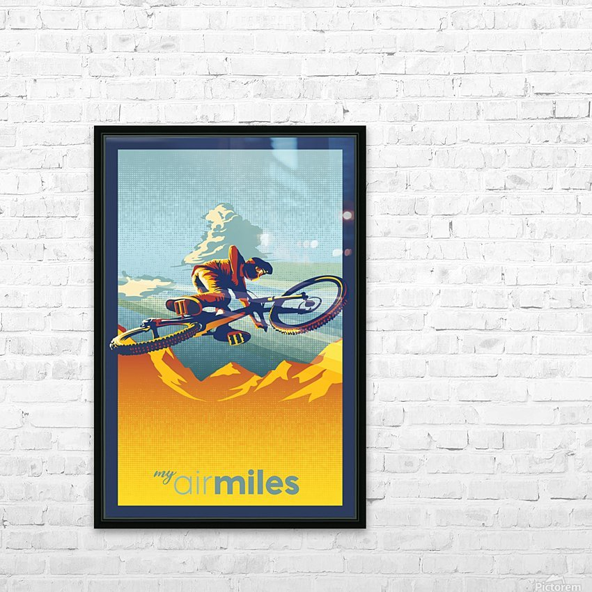 my air miles mountain bike poster HD Sublimation Metal print with Decorating Float Frame (BOX)