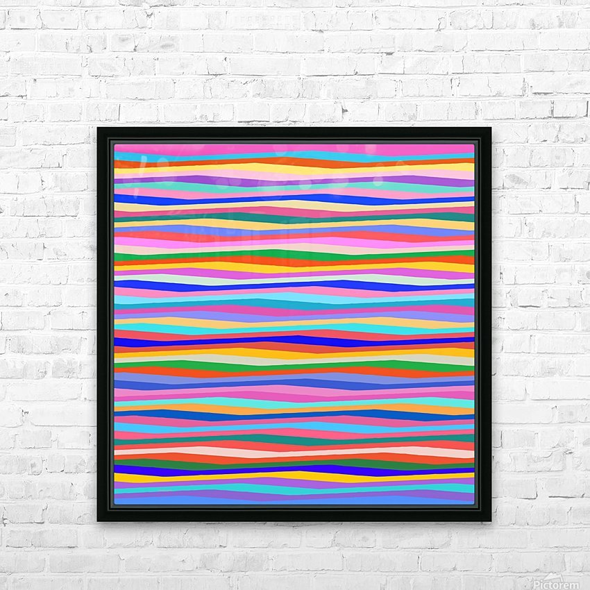 Wavy Stripes Abstract  HD Sublimation Metal print with Decorating Float Frame (BOX)
