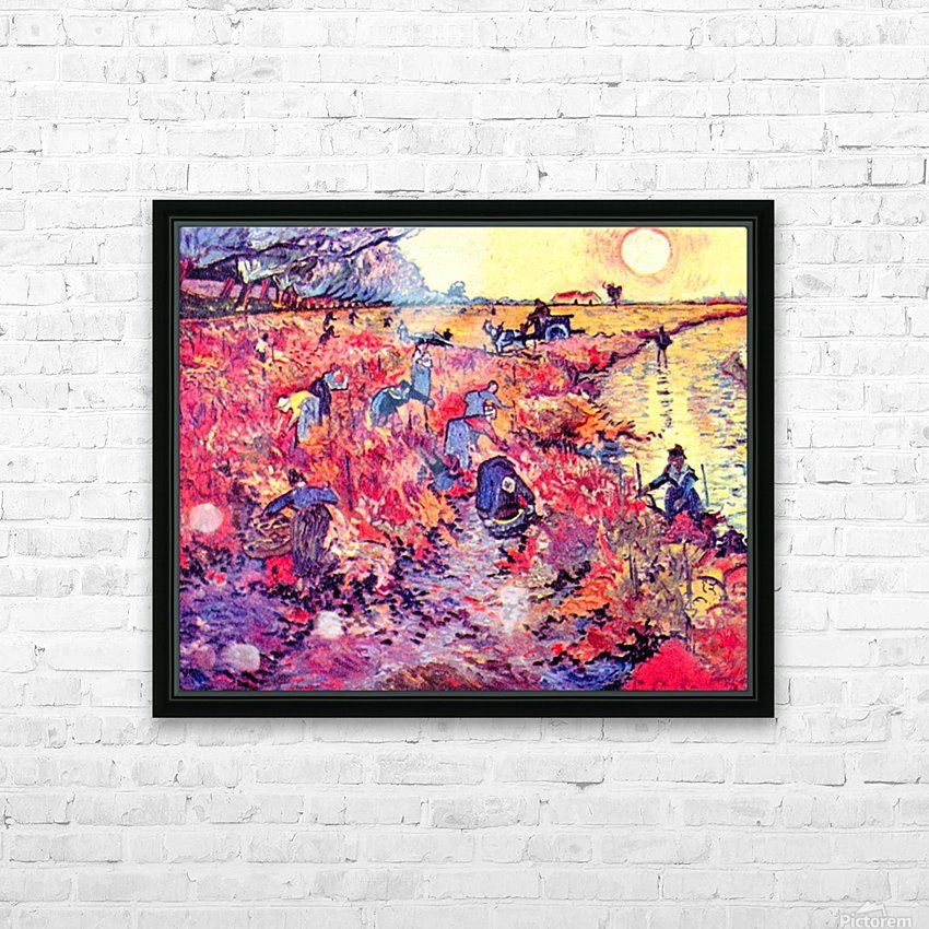The red vines by Van Gogh HD Sublimation Metal print with Decorating Float Frame (BOX)