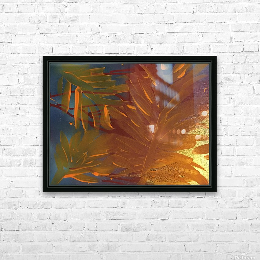 THE LEAF OF LIGHT HD Sublimation Metal print with Decorating Float Frame (BOX)