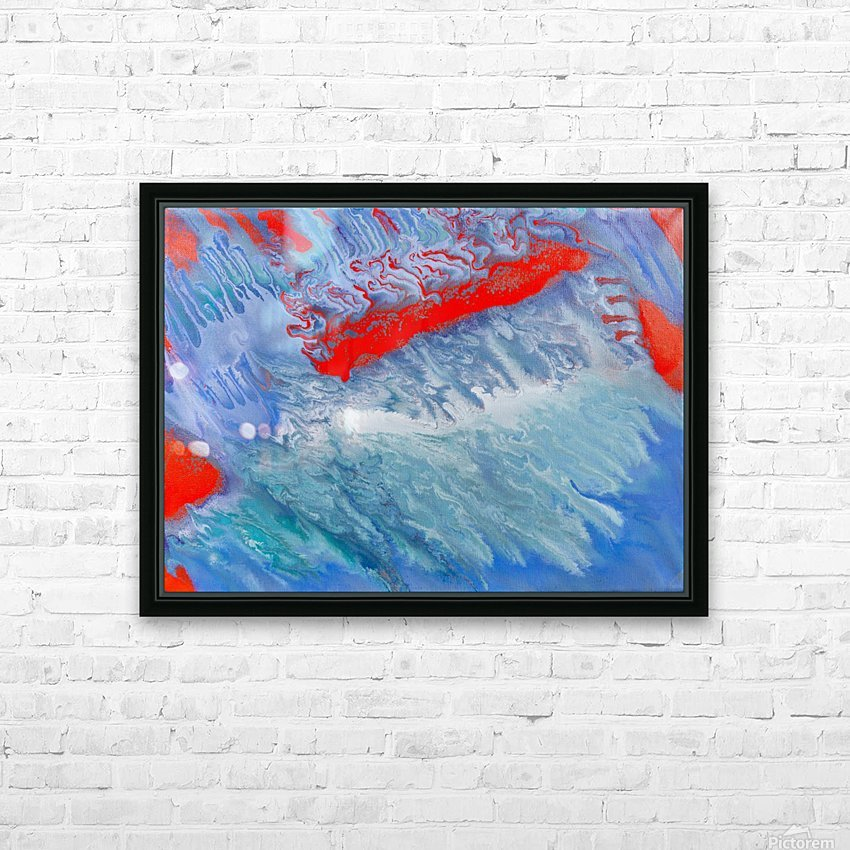 AGAINST THE REEF HD Sublimation Metal print with Decorating Float Frame (BOX)