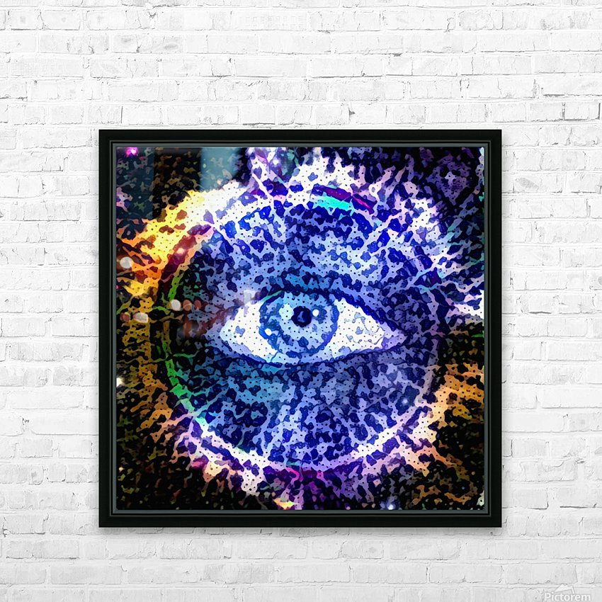 Beautiful Eye Design HD Sublimation Metal print with Decorating Float Frame (BOX)