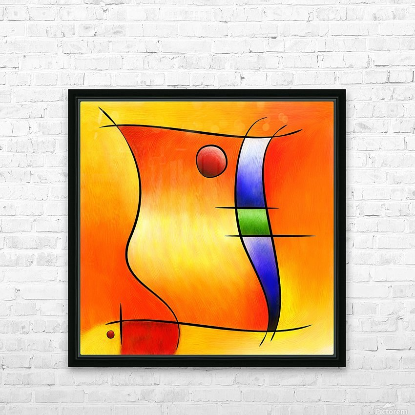 Seisnebota - the mouse that wanted to be a fish HD Sublimation Metal print with Decorating Float Frame (BOX)