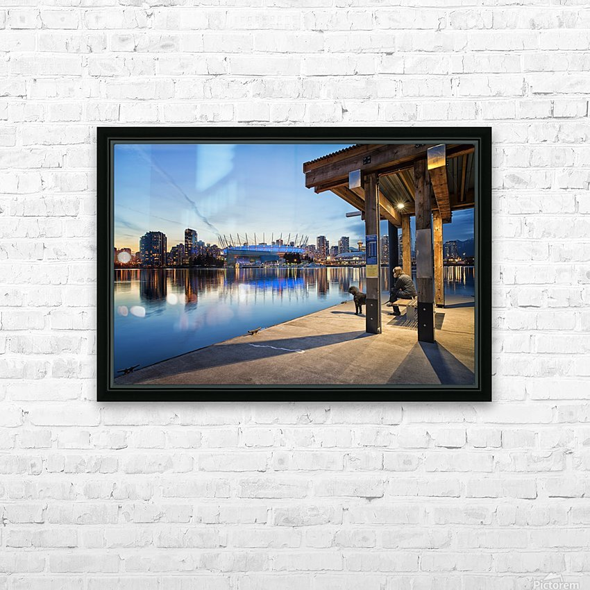 Waiting for Water Taxi HD Sublimation Metal print with Decorating Float Frame (BOX)