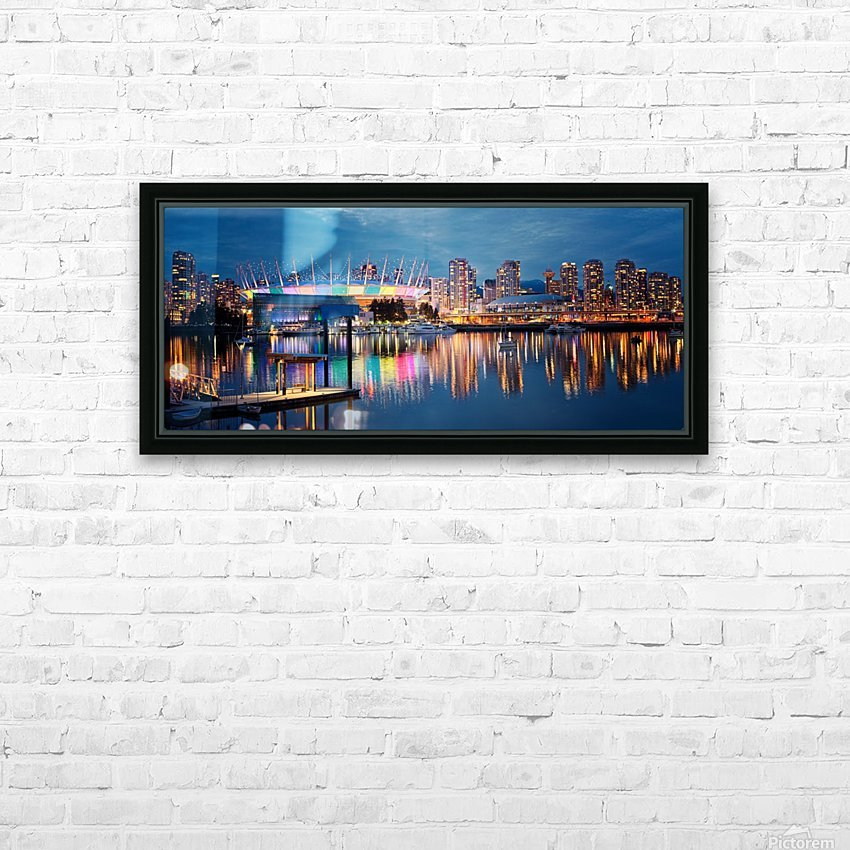 The Arena HD Sublimation Metal print with Decorating Float Frame (BOX)