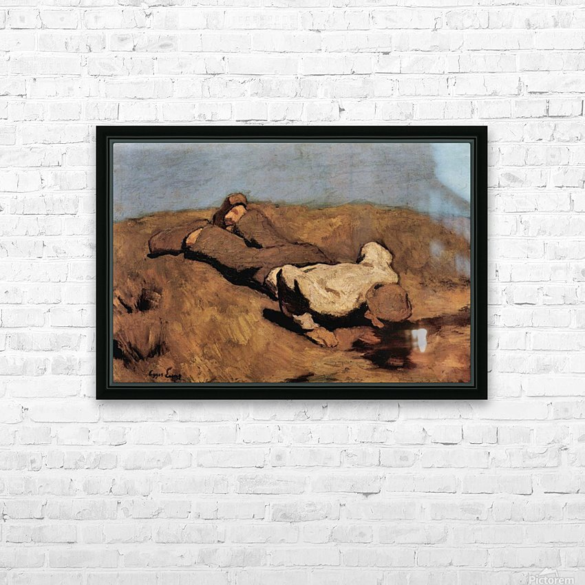 The source by Albin Egger-Lienz HD Sublimation Metal print with Decorating Float Frame (BOX)