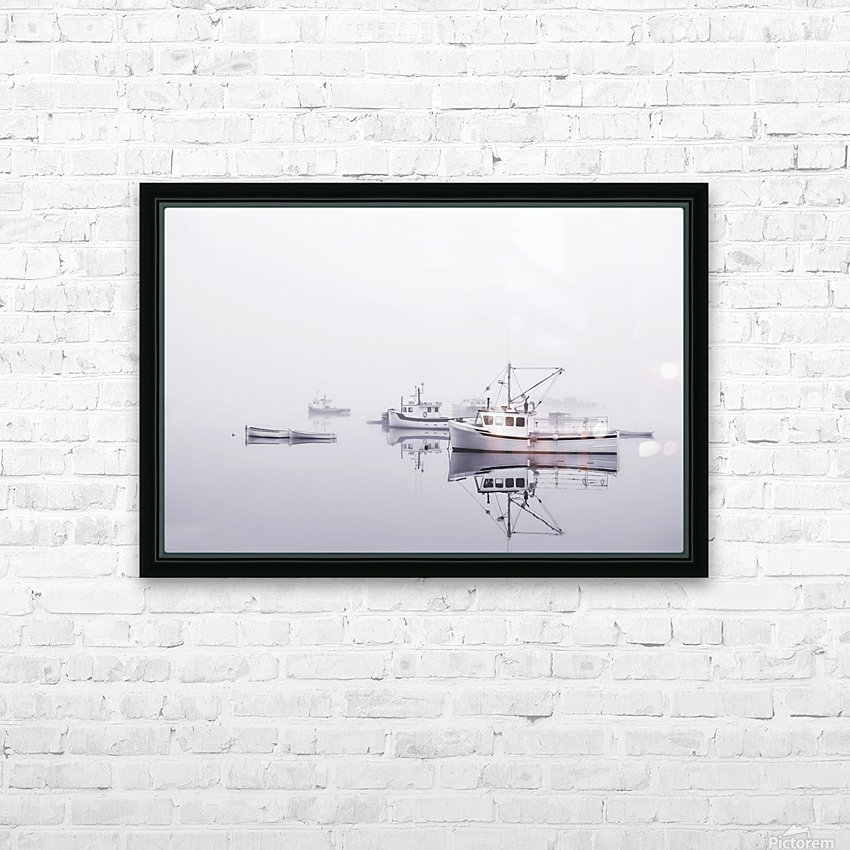 New Brunswick  Boats in the Mist HD Sublimation Metal print with Decorating Float Frame (BOX)