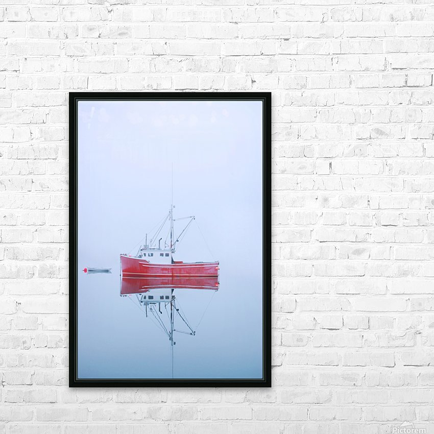New Brunswick - fishing boat reflected in water HD Sublimation Metal print with Decorating Float Frame (BOX)