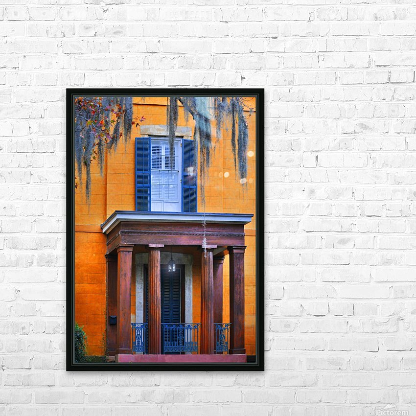 Savannah Porch HD Sublimation Metal print with Decorating Float Frame (BOX)