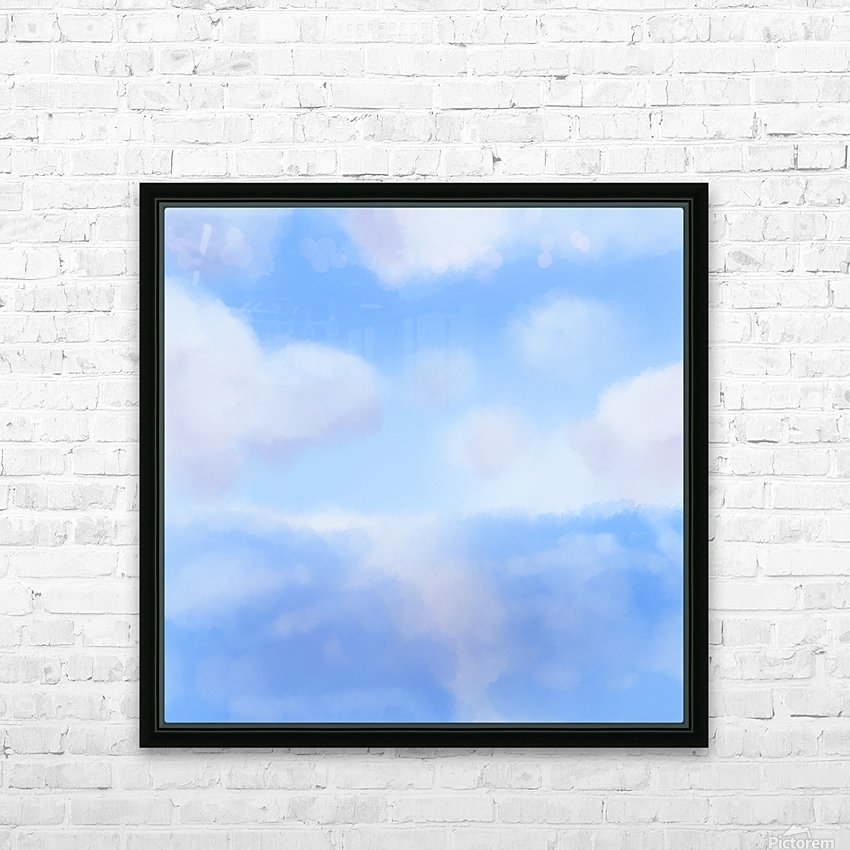 Happy Clouds - Original Artwork HD Sublimation Metal print with Decorating Float Frame (BOX)