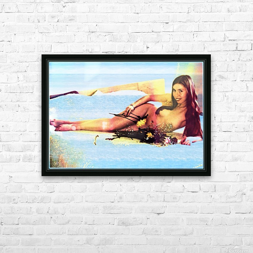 a mermaid in her home HD Sublimation Metal print with Decorating Float Frame (BOX)