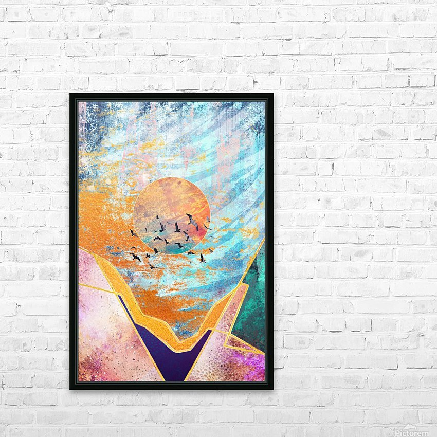 Abstract Sunset - Illustration VI HD Sublimation Metal print with Decorating Float Frame (BOX)