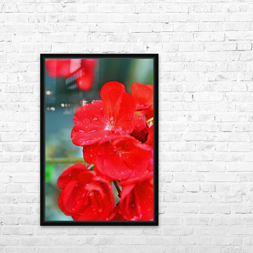 Elegantly Red HD Sublimation Metal print with Decorating Float Frame (BOX)