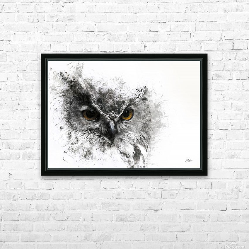 European Eagle Owl 01 HD Sublimation Metal print with Decorating Float Frame (BOX)