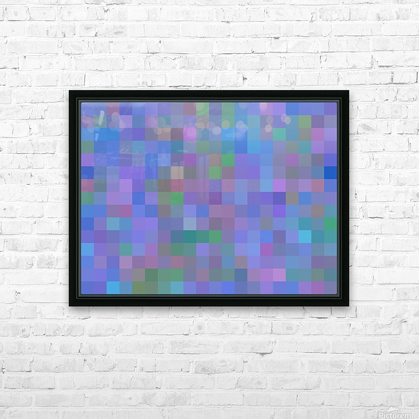 geometric square pixel pattern abstract in purple blue pink HD Sublimation Metal print with Decorating Float Frame (BOX)