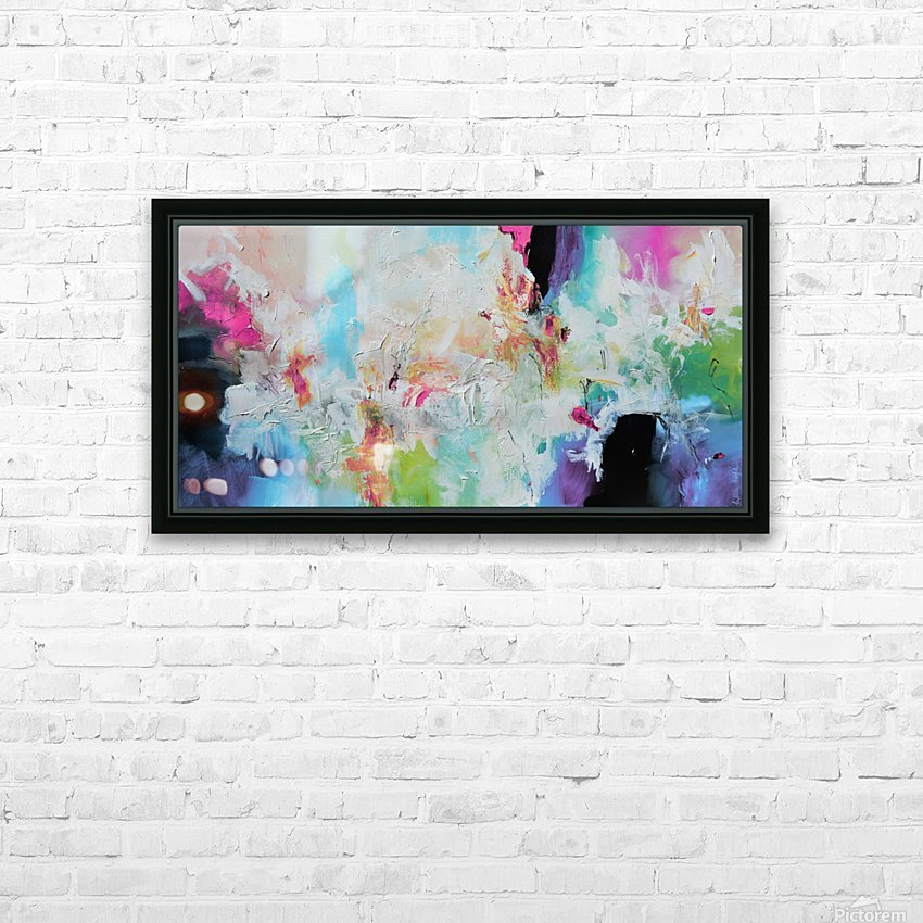 Abstract 39 HD Sublimation Metal print with Decorating Float Frame (BOX)