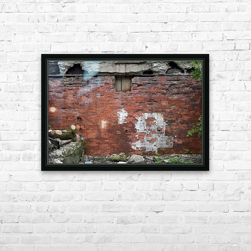 Another Brick in the Wall HD Sublimation Metal print with Decorating Float Frame (BOX)