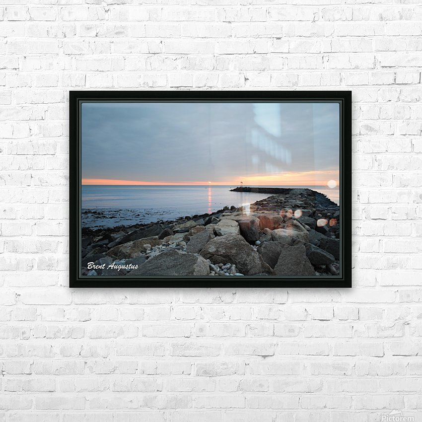 New England Sunrise HD Sublimation Metal print with Decorating Float Frame (BOX)