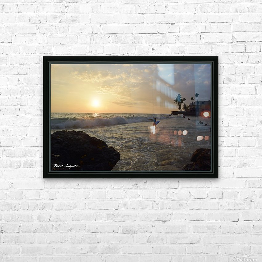 Hawaii Sunset HD Sublimation Metal print with Decorating Float Frame (BOX)