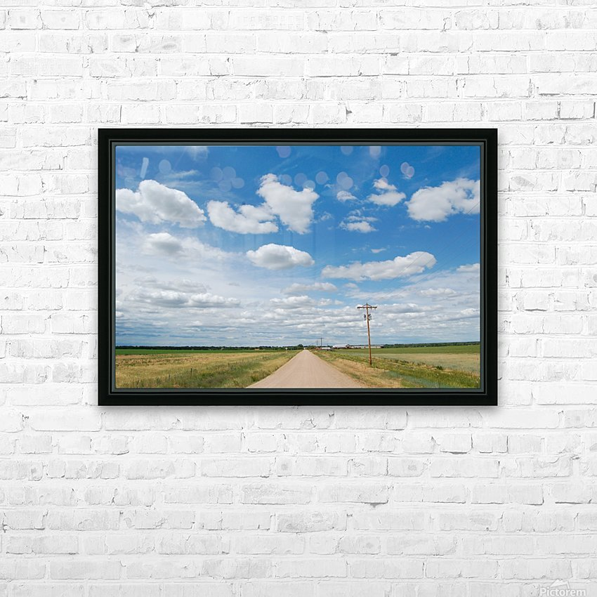Country Road HD Sublimation Metal print with Decorating Float Frame (BOX)
