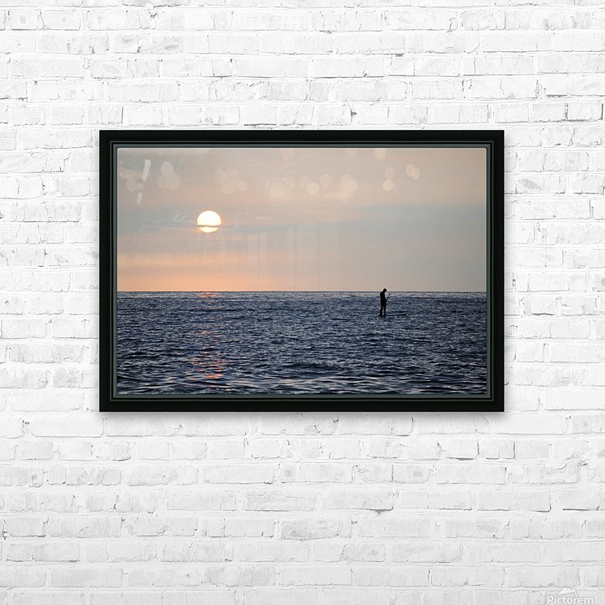 Sinking Sunset HD Sublimation Metal print with Decorating Float Frame (BOX)